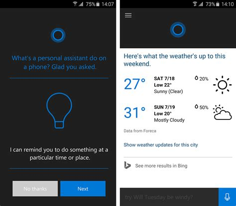 mobile version of android an early version of cortana for android has leaked and it