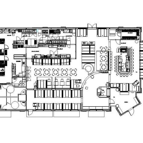 auto cad floor plan hado japanese restaurant and gallery restaurant design cad layout plan cadblocksfree cad