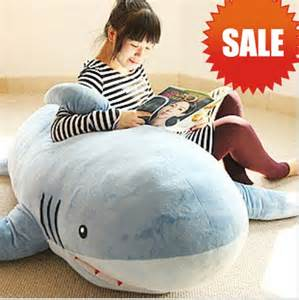 giant shark plush huge stuffed plush shark sofa cushion throw pillow