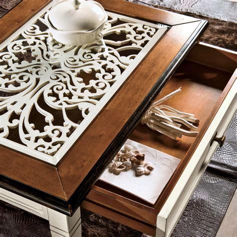 tavolino con cassetto tavolino con cassetto piano vetro e traforo
