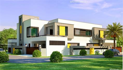 well designed houses 3d front elevation com 1 kanal corner plot 2 house