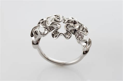 custom engagement rings made with code 3d printing and