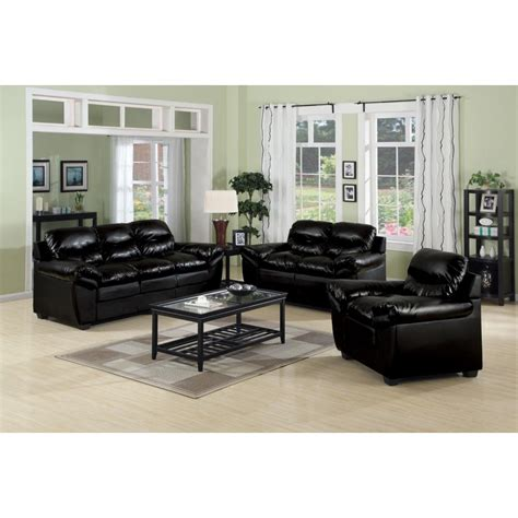 Black Leather Sofa In Living Room Luxury Black Leather Sofa Set Living Room Inspiration Best Regarding Living Room Leather