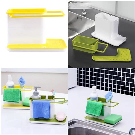 Kitchen Caddy Sink Organizer Plastic Racks Organizer Caddy Storage Kitchen Sink Utensil Holder Drainer Gwq Hg