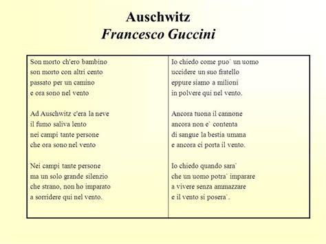 testo auschwitz nomadi auschwitz testo 28 images shoah poesie e canzoni