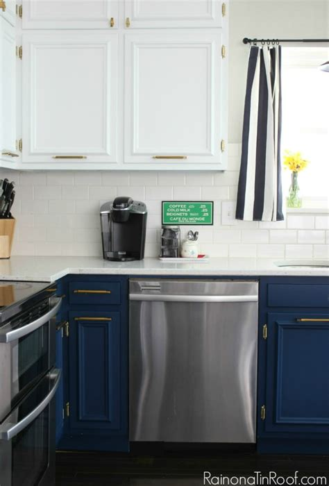 Navy and White Modern Kitchen