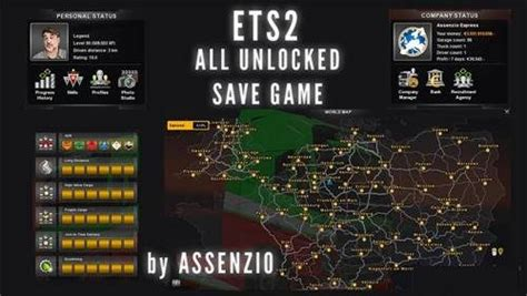 mod de save game para ets2 all unlocked save game for last version ets2 ets2 mod