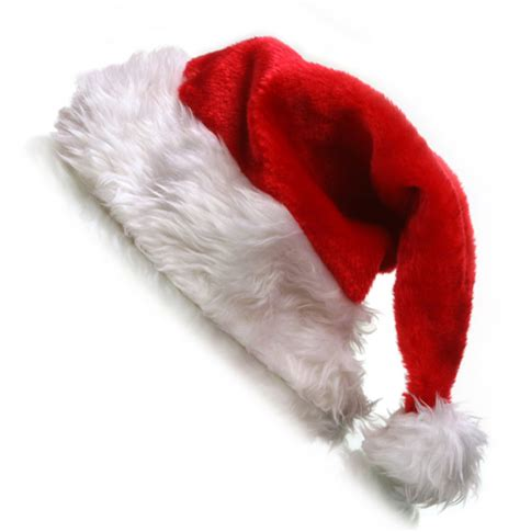 real santa hat with black background