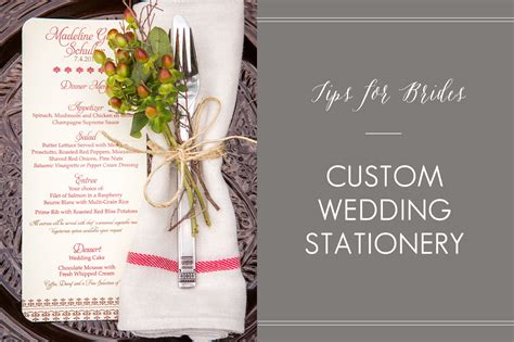 Custom Wedding Stationery by Custom Wedding Stationery Tips For Brides