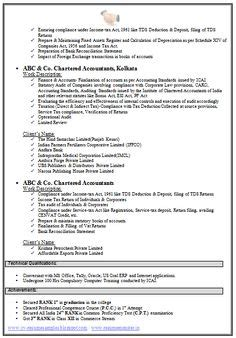 accounting curriculum vitae format 1000 images about cv exles on cv exles