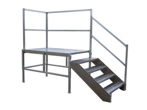 Landing Handrail Height Metal Stairs Aluminum Access Stairs Redd Team