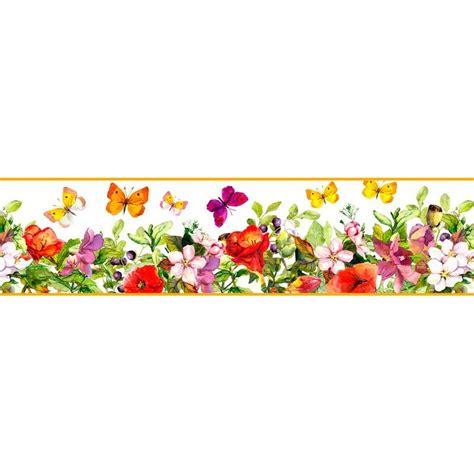 cenefas flores cenefa floral cef019 vinilosdecorativos