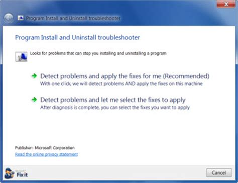 how to install uninstall windows programs in bulk cannot install or uninstall programs in windows 10 8 7