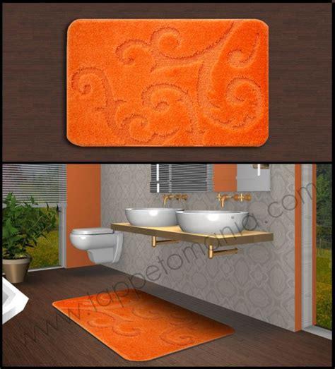 tappeti arancioni tappeti bagno arancioni bamboo bollengo