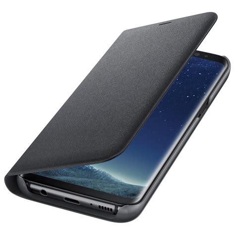 Wallet Mirror View Flip Cover Galaxy S8 Black samsung galaxy s8 led view cover flip black