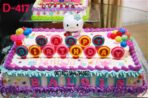 video membuat kue ulang tahun hello kitty daniqa cake and snack kue ulang tahun hello kitty