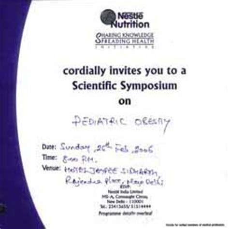 Sponsorship Letter To Nestle Baby Milk Cem September 2006