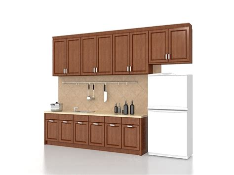 straight line kitchen kitchen wall shelf design one wall kitchen design 3d model 3ds max files free