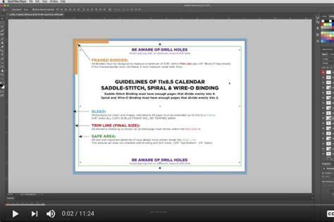 photoshop template video tutorials calendar template printingcenterusa com