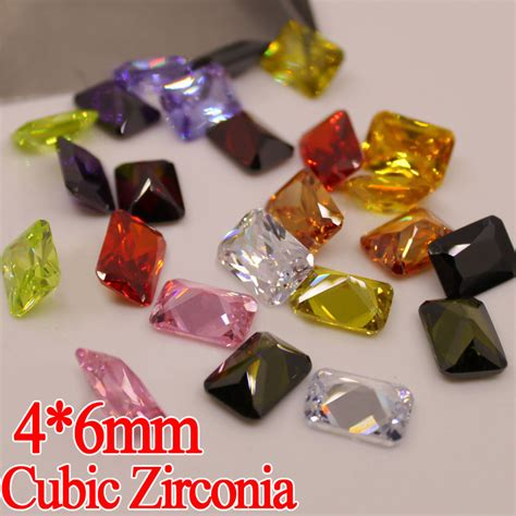 cheap jewelry supplies wholesale jewelry supplies 100pcs 4 6mm aaa square cut