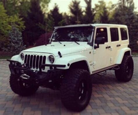 Jeep White Lifted White Jeep Beautiful