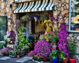 Neon Shower Curtain Positano Flower Shop Photograph By Jon Berghoff