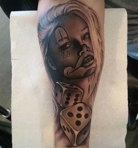 clown girl tattoo pin gangster clown on