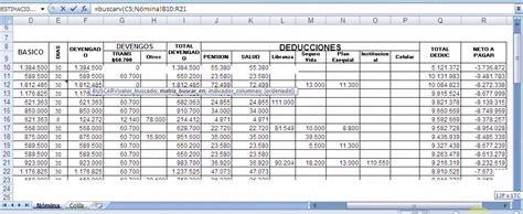 ejemplo de nomina en excel 2013 colombia ejemplo de aplicaci 243 n de la funci 243 n buscarv en excel youtube