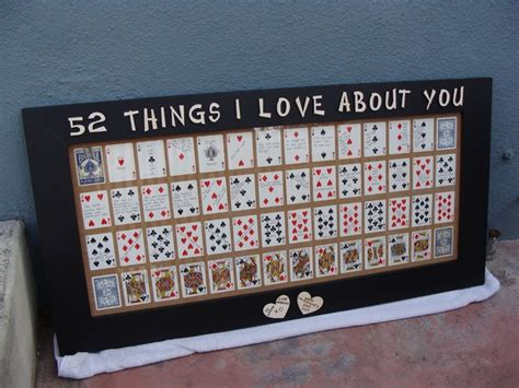 52 things i about you deck of cards template pin by tien vd on s day