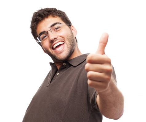 This Is One Happy Guy This Is The Happiest Man That I | happy guy with thumb up on white background photo free
