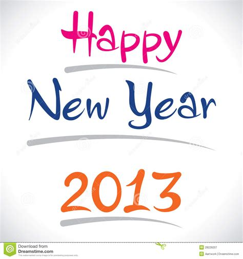happy new year 2013 creative design royalty free stock