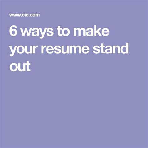 resume 6 ways to make your resume stand out jobloving your number one source for