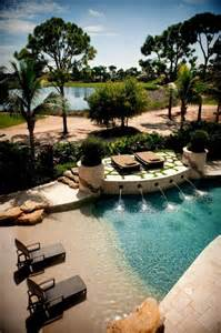 beach entry style swimming pool outdoors pinterest