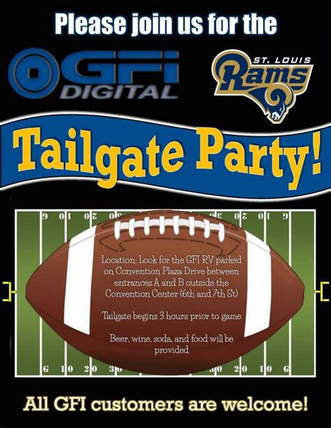 Gfi Digital Inc Gfitweets Twitter Free Tailgate Flyer Template