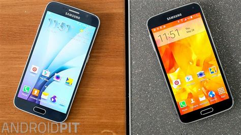 Samsung Galaxy S6 Vs S5 samsung galaxy s6 vs galaxy s5 comparison when galaxies collide androidpit