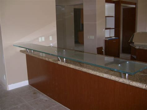 floating bar top glass bar top counter floating kitchen counter gluechipped glass