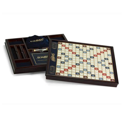 scrabble delux scrabble deluxe at brookstone buy now