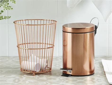 stylish bathroom accessories best 25 bathroom trash cans ideas on trash