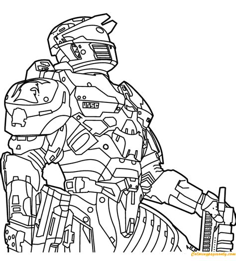 halo coloring coloring page  coloring pages
