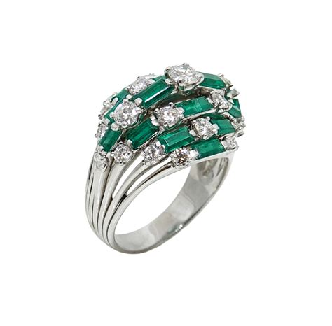 baguette emerald and platinum ring world s best