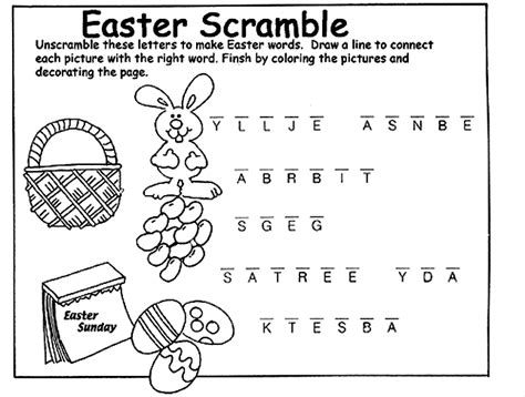 make a coloring page with words easter scramble coloring page crayola com