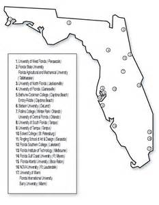 florida colleges map colleges and universities colleges and universities in