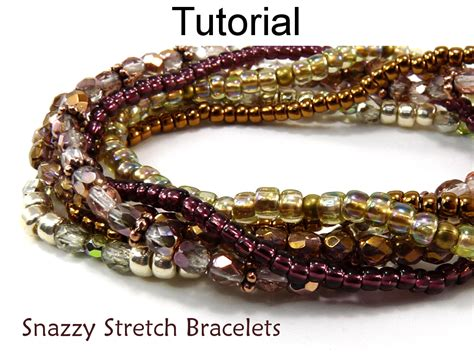 how to make stretch rings jewelry beading pattern tutorial stretch bracelets simple bead
