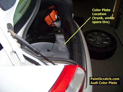 audi touch up paint color code and directions for audi paintscratch