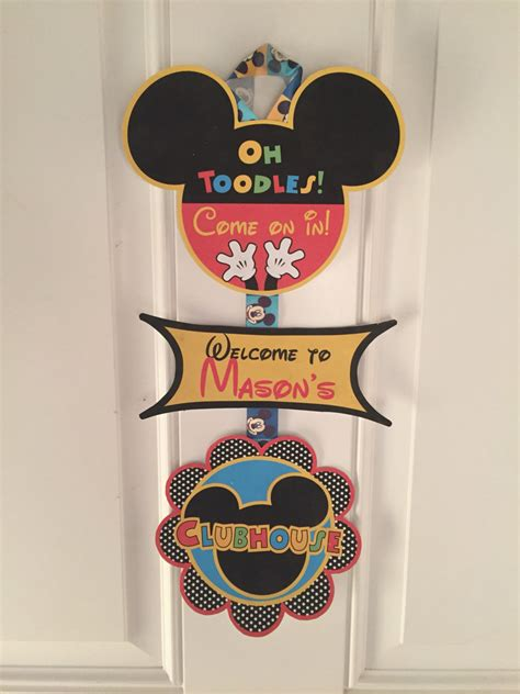 mickey mouse birthday party sign mickey mouse birthday mickey birthday door sign mickey mouse