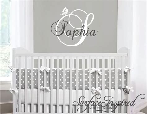 name stickers for walls nursery wall decals name wall decal by surfaceinspired