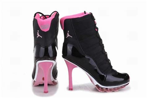 aaa nike air 11 high heels black pink for