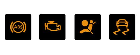 Abs Light On Car Dashboard by Dashboard Warning Lights In Cars