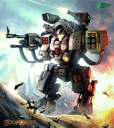 big robot big robot firing by syam arifin on deviantart