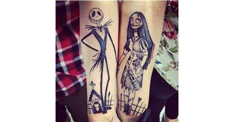nightmare before christmas couples tattoos nightmare before tattoos disney tattoos